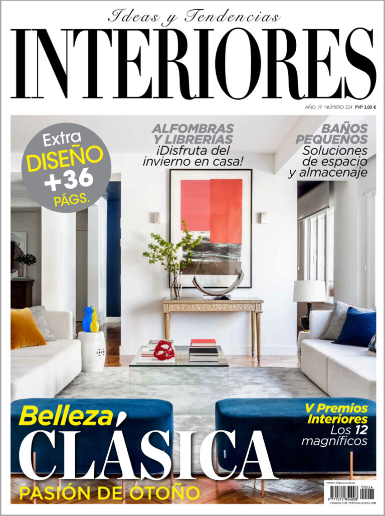 "Corb bookcase in ""Interiores"" magazine"