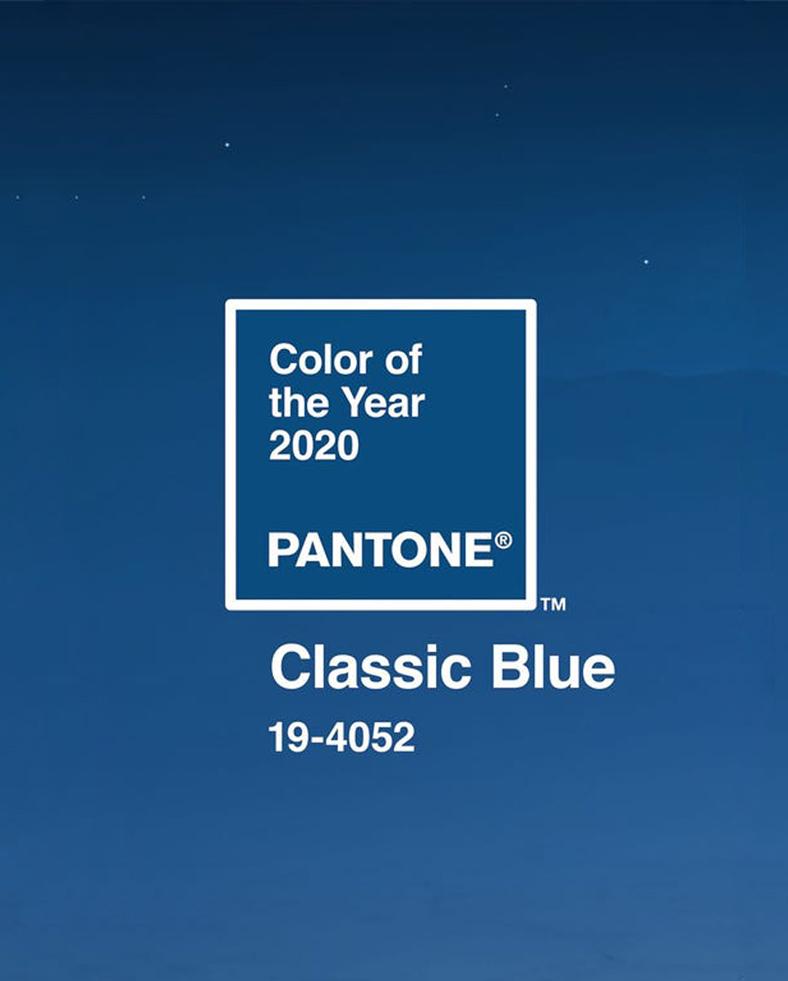 Couleur Pantone 2020: Classic Blue
